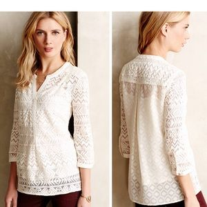 🆕{Listing} Anthropologie Embroidered Tulle Tunic